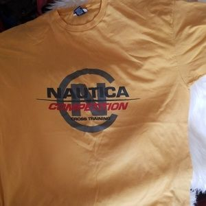 Nautica Competition Yellow Vintage T Shirt